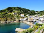 Photos of picturesque village of Polperro in Cornwall taken within 4-5 mins walk of Oversteps