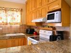 Newly renovated fully equipped kitchen with everything you need to feel at home.