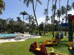 Small children's pool and playground
