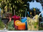 We offer Cocktails, Wines and fresh Juices