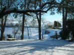 View from the cottage in winter.