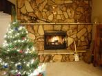 Fireplace at Christmas