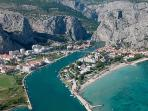 Where river Cetina meets Adriatic sea in OMiš