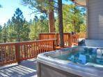 Hot Tub - Great rear deck location overlooking the trees!