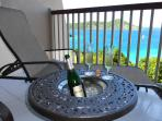 Chill your Champagne, wine or beer while relaxing and enjoying the view
