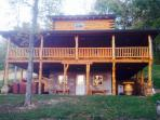 The Big Red Cabin. Your home away from 'everything'!  Relax at this spacious, yet cozy new cabin.