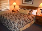 Large, comfortable bed in the bedroom