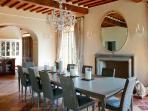 main villa, ground floor, dining room