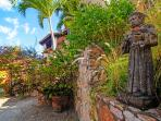 Saint Francis Statue in Parking Area