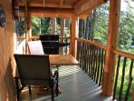 Cabins have a BQ on the deck.