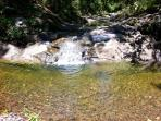 A short 10 minute walk to Warrill creek which flows in summer after rain