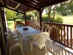 Sunshades outdoor terrace Villa Perigord