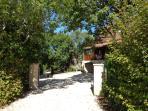 Gated access to Villa Perigord