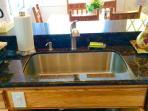 Kitchen with granite countertop
