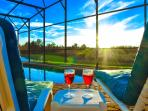 Relax at our very private pool or in the spa while watching the most amazing sunsets after sunning.