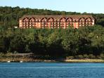 A view from Table Rock Lake.  This is one of the lodge buildings.