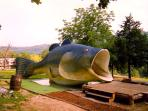 Big fish on the miniature golf course.