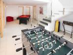 lower floor table football