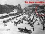 This is how Ban Jelacic Square used to look like in the past, cca  100 years ago