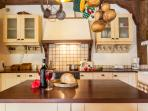 Fully equipped rustic kitchen