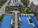 Lap pool, big swimming pool, and kids swimming pool