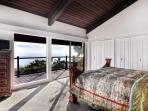 Master bedroom -  ocean views from bed