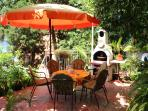 Our garden, common area for our guests.