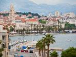 SPLIT - Historical Complex of Split with the Palace of Diocletian. The ruins of Diocletian's Palace