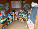 Children will love exploring the playden which means that you will get some relaxation time :-)