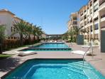 guardamar hill resort with sea view, spa, pool, sauna, fitness, minigolf, tennis. beach 500 meter