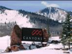 Canyons Resort Entrance -- .4 mi away from the Resort