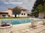 Grande maison en provence avec  piscine privee, internet, barbecue, tres calme