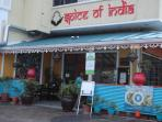 Excellent Spice of India - fantastic! Easy walking distance away.