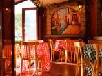 Delicious Marinara Restaurant just across the Park