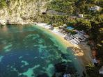La Mala Beach with its clear water and two great beach restaurants