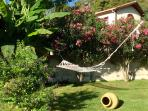 one of two hammocks to relax in