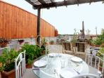 Rome Colosseum Rental with Terrace View - Terrace overlooking Colosseum and Vatican Dome
