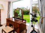 Bedroom 1: The Fishing Room - Lord Bandon's bedroom with dressing table and telescope.
