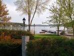 Wolfeboro's Cate Park overlooking Wolfeboro Bay.