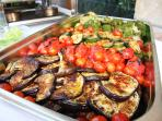 Grilled vegetables for ask