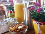 Warm breakfast for ask 5€/person
