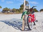 Rent or bring your own bike...Forest Beach is WIDE enough to ride on! *kites & beach games welcome