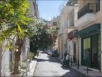 Street outside apt