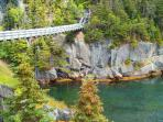 Suspension bridge, La Manche