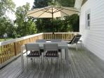 Huge rear deck for sunning or eating out