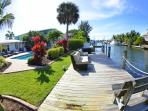 Enjoy the 30' private boat dock, with plenty of room for your guests, with best fishing available!