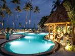 Main beachfront pool and restaurant