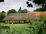 Open thatched barn