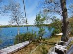 90 feet of lake frontage with kayaks and paddle board supplied