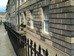 The property looks out onto Gayfield Square and a charming little park